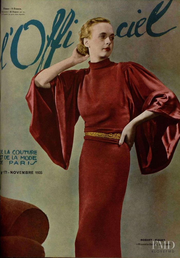 featured on the L\'Officiel France cover from November 1935