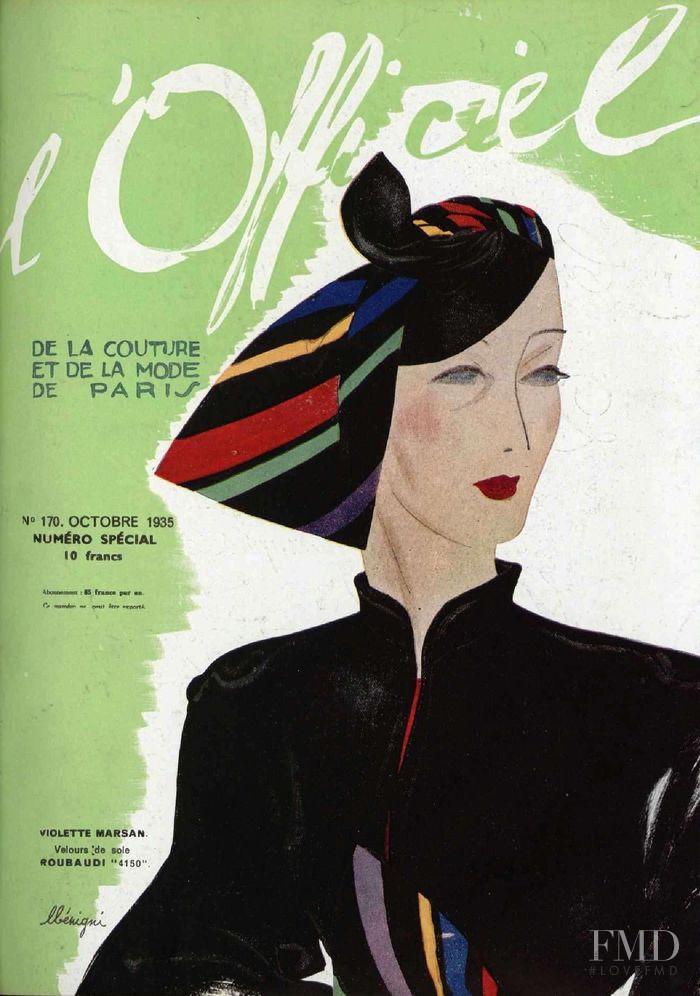 featured on the L\'Officiel France cover from October 1935