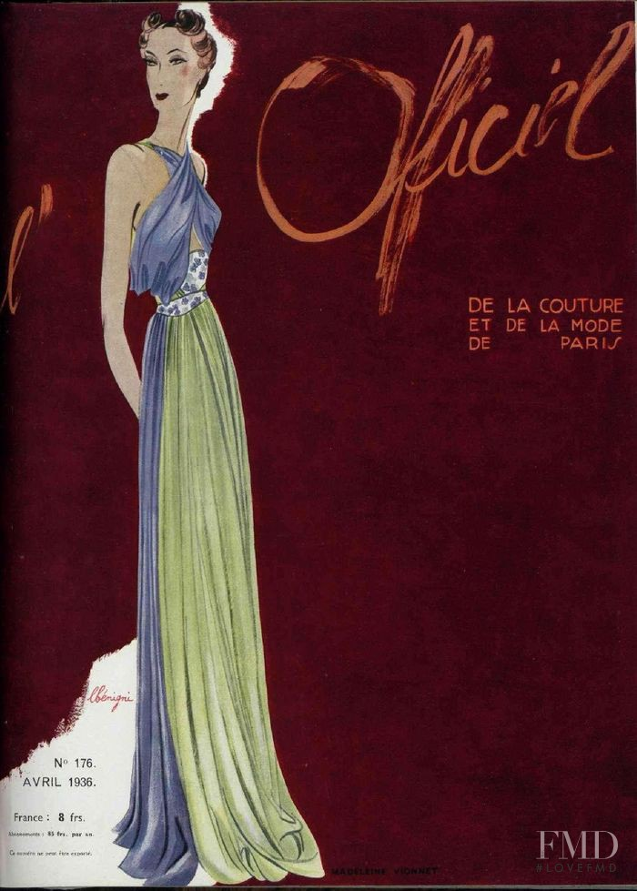 featured on the L\'Officiel France cover from April 1936