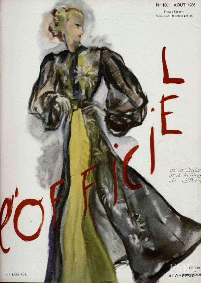 featured on the L\'Officiel France cover from August 1936