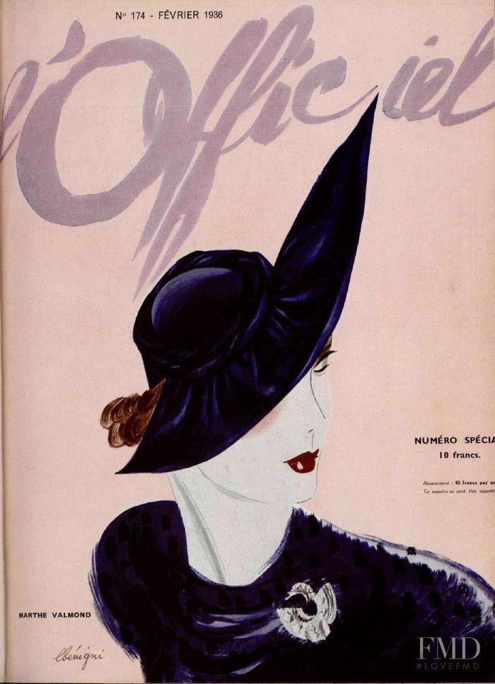 featured on the L\'Officiel France cover from February 1936