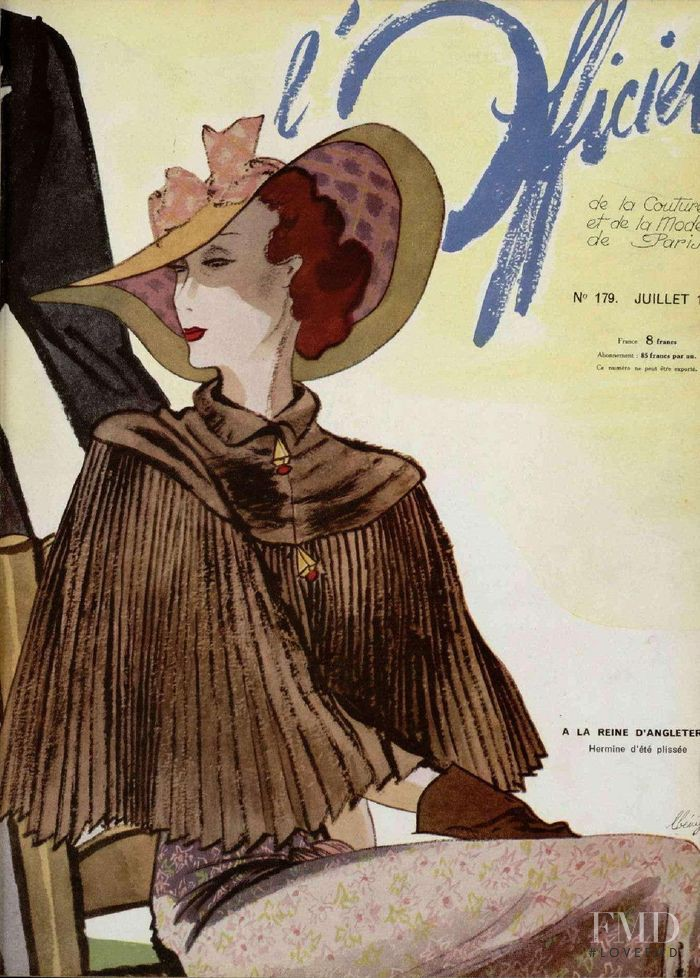featured on the L\'Officiel France cover from July 1936