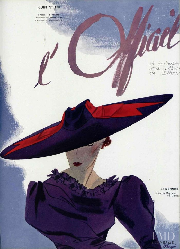 featured on the L\'Officiel France cover from June 1936