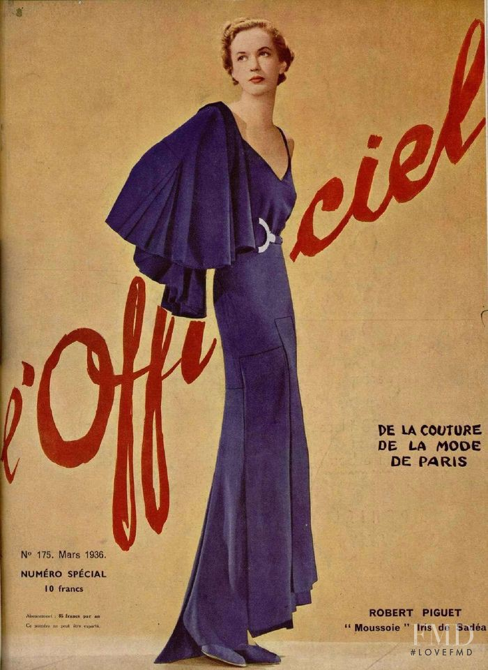 featured on the L\'Officiel France cover from March 1936