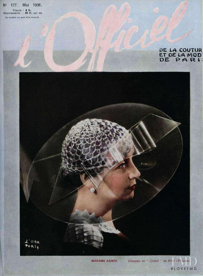 featured on the L\'Officiel France cover from May 1936