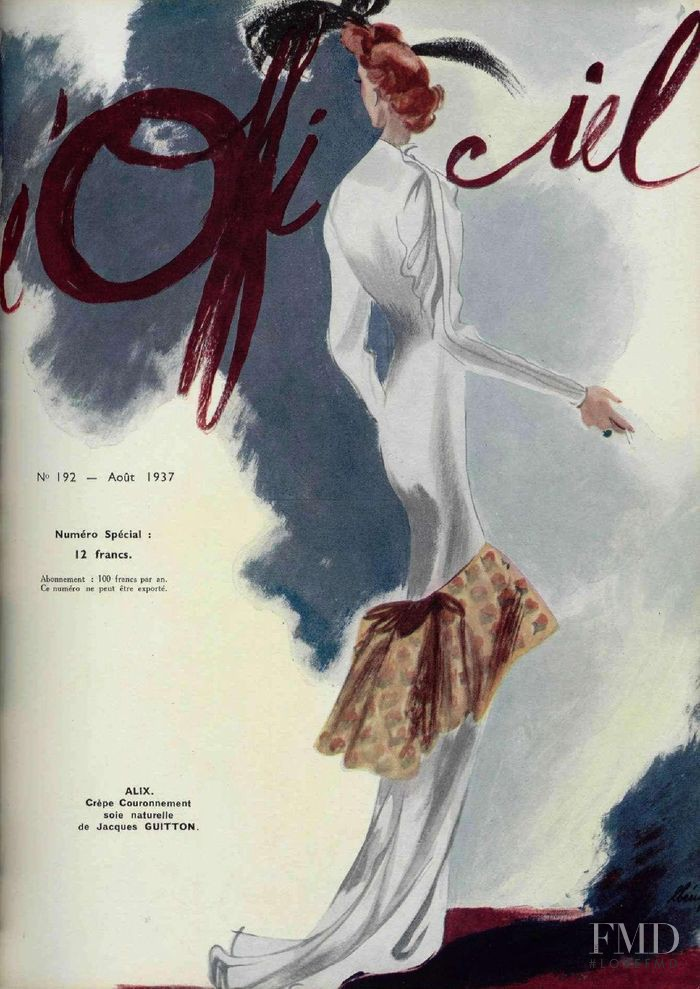 featured on the L\'Officiel France cover from August 1937