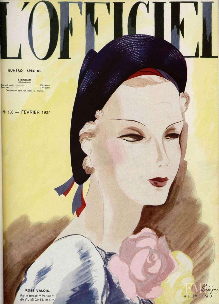 featured on the L\'Officiel France cover from February 1937