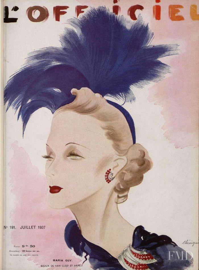 featured on the L\'Officiel France cover from July 1937
