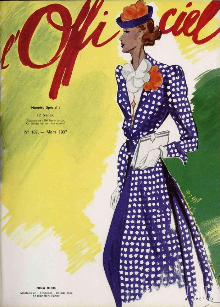 featured on the L\'Officiel France cover from March 1937