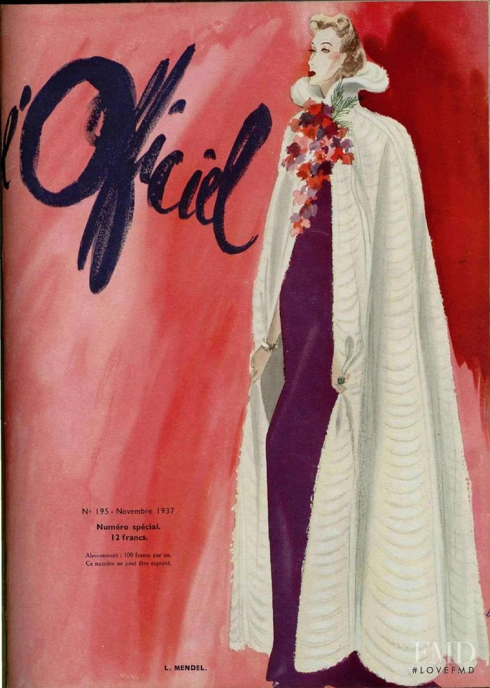 featured on the L\'Officiel France cover from November 1937