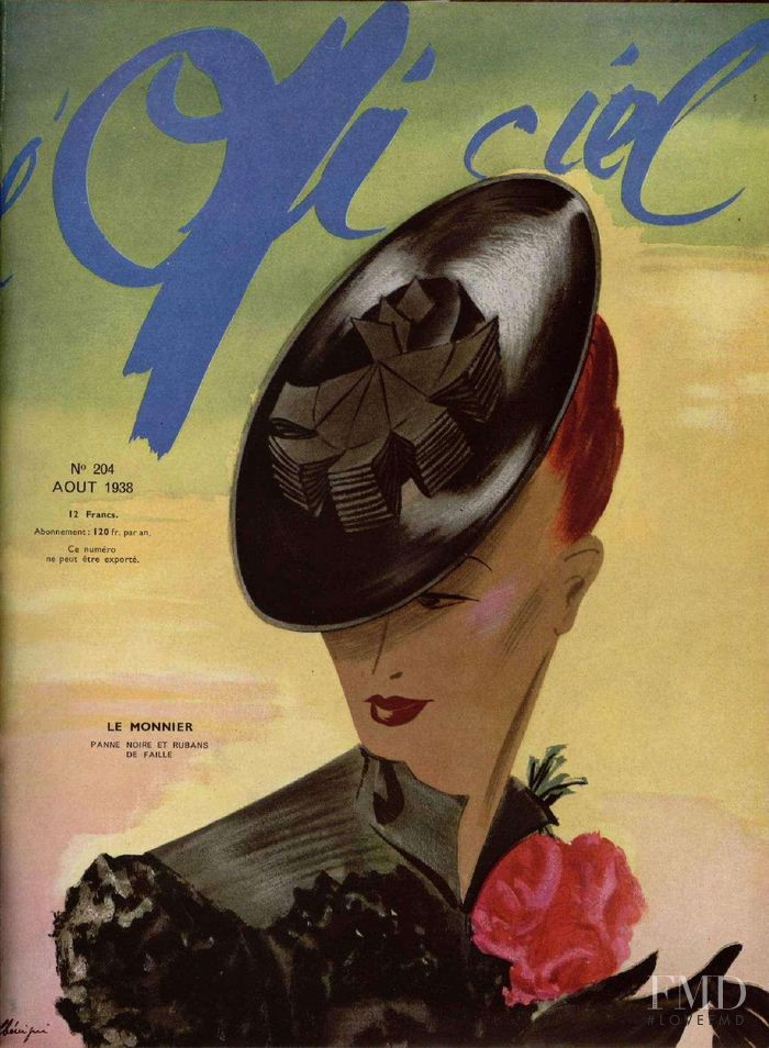 featured on the L\'Officiel France cover from August 1938