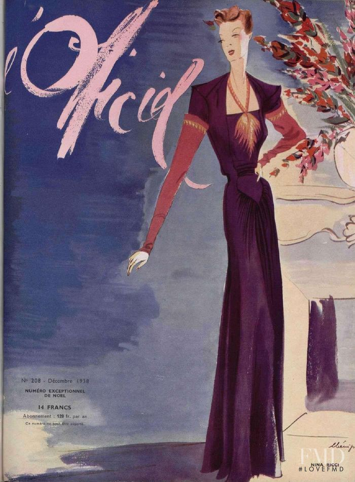featured on the L\'Officiel France cover from December 1938