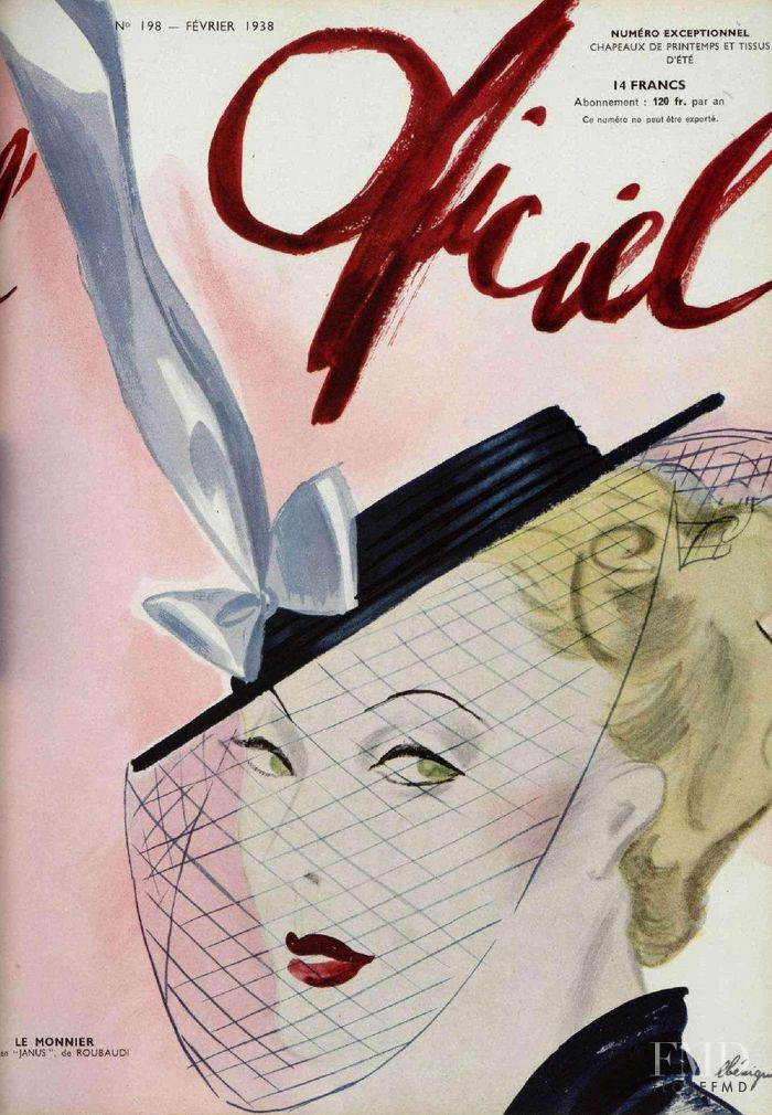 featured on the L\'Officiel France cover from February 1938