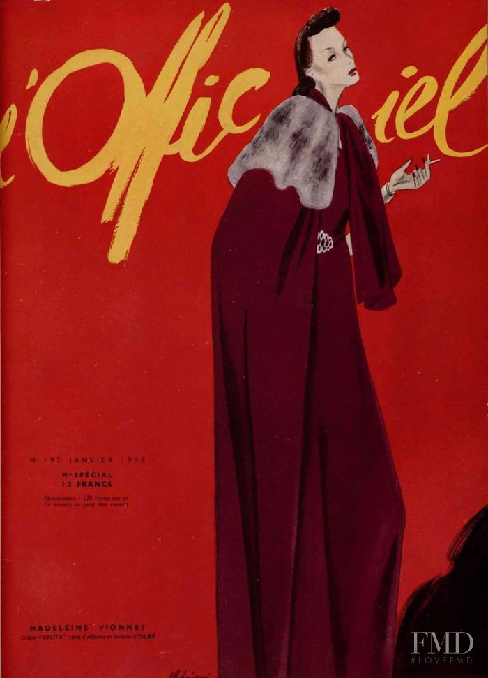 featured on the L\'Officiel France cover from January 1938