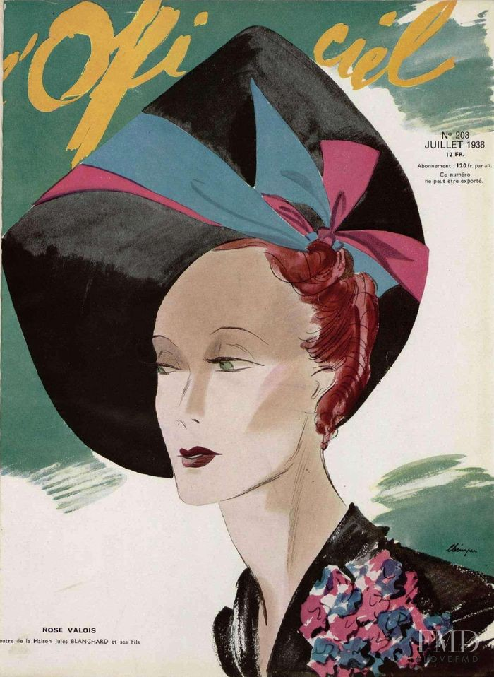 featured on the L\'Officiel France cover from July 1938