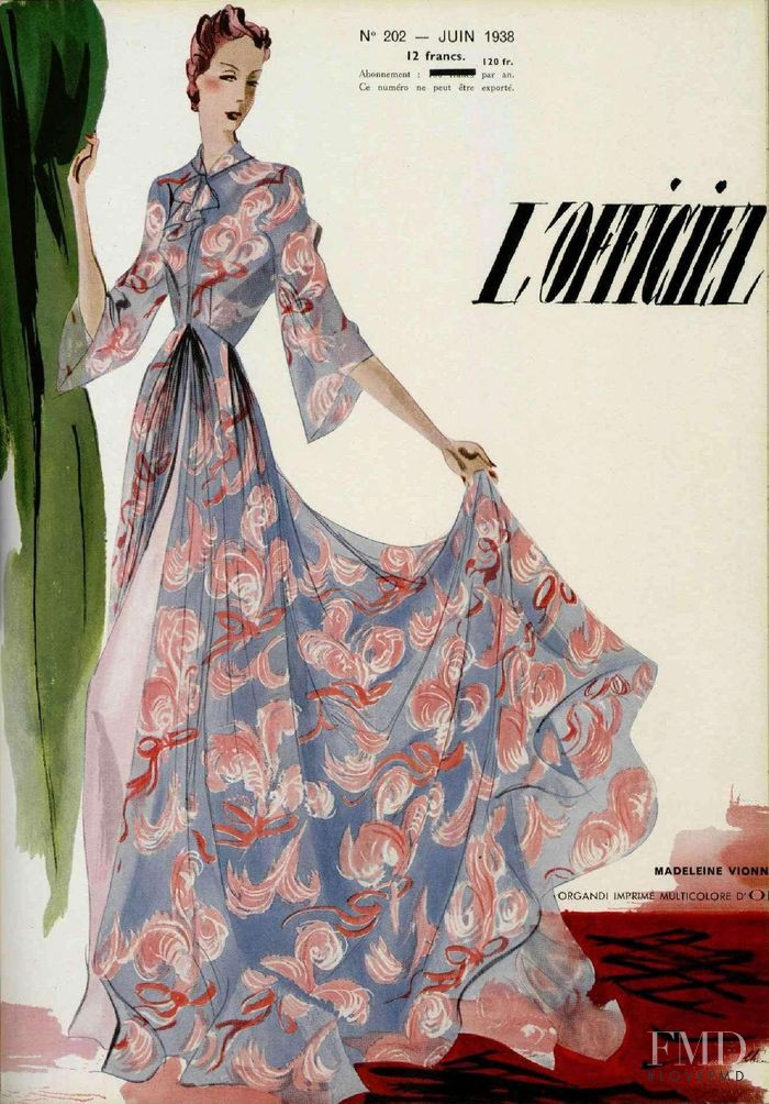 featured on the L\'Officiel France cover from June 1938