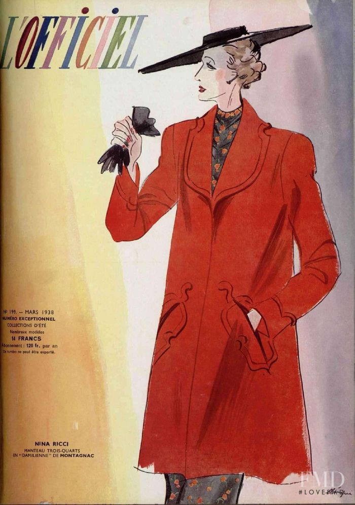 featured on the L\'Officiel France cover from March 1938