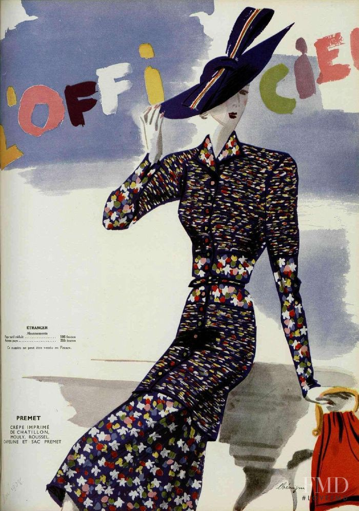 featured on the L\'Officiel France cover from May 1938