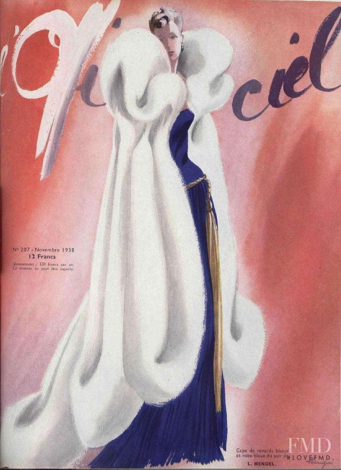 featured on the L\'Officiel France cover from November 1938