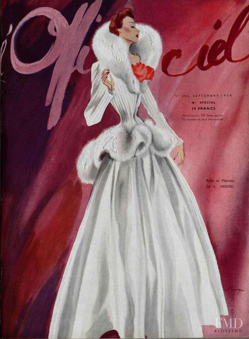 featured on the L\'Officiel France cover from September 1938