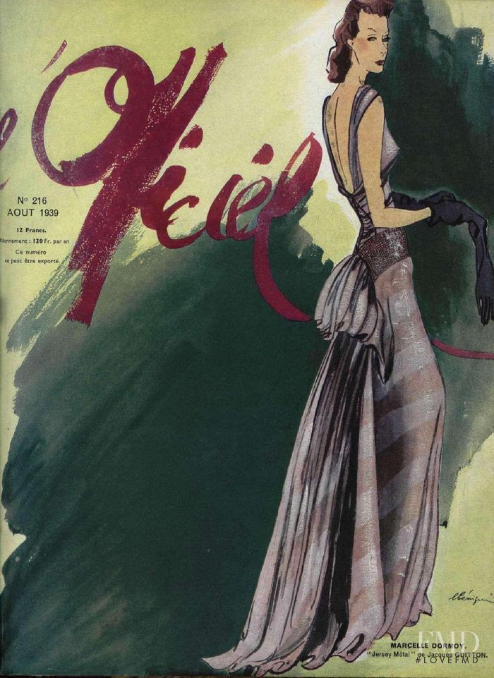 featured on the L\'Officiel France cover from August 1939