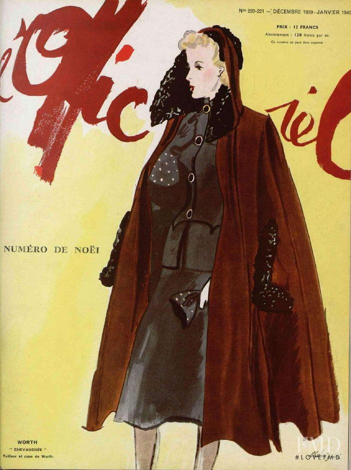 featured on the L\'Officiel France cover from December 1939