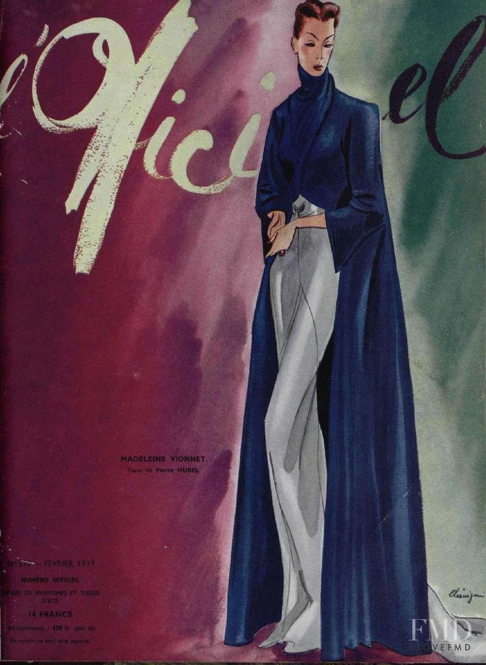 featured on the L\'Officiel France cover from February 1939