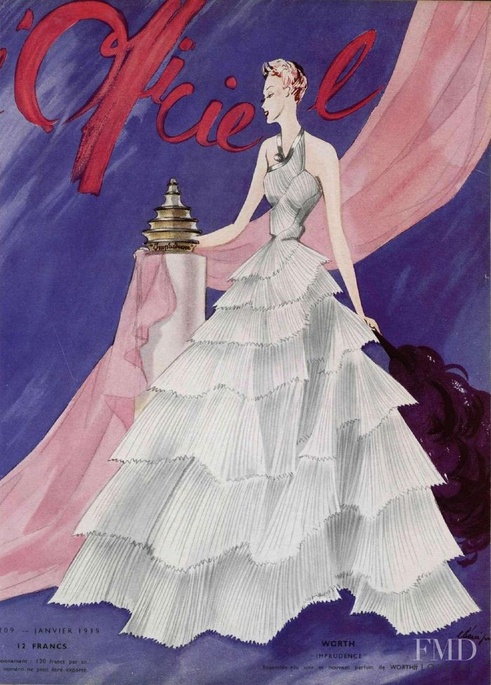 featured on the L\'Officiel France cover from January 1939