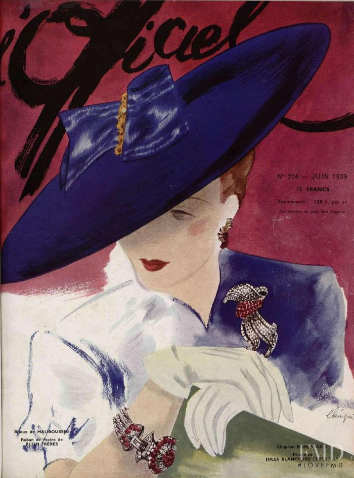 featured on the L\'Officiel France cover from June 1939
