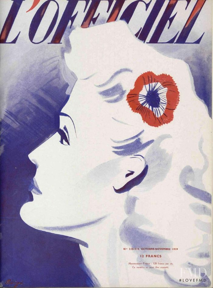 featured on the L\'Officiel France cover from October 1939