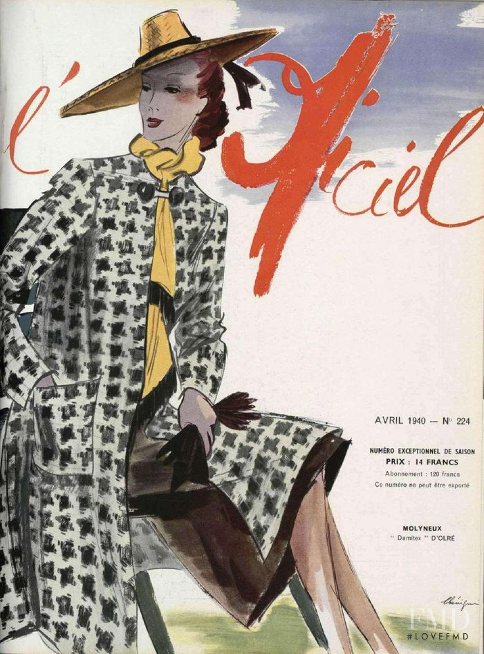 featured on the L\'Officiel France cover from April 1940