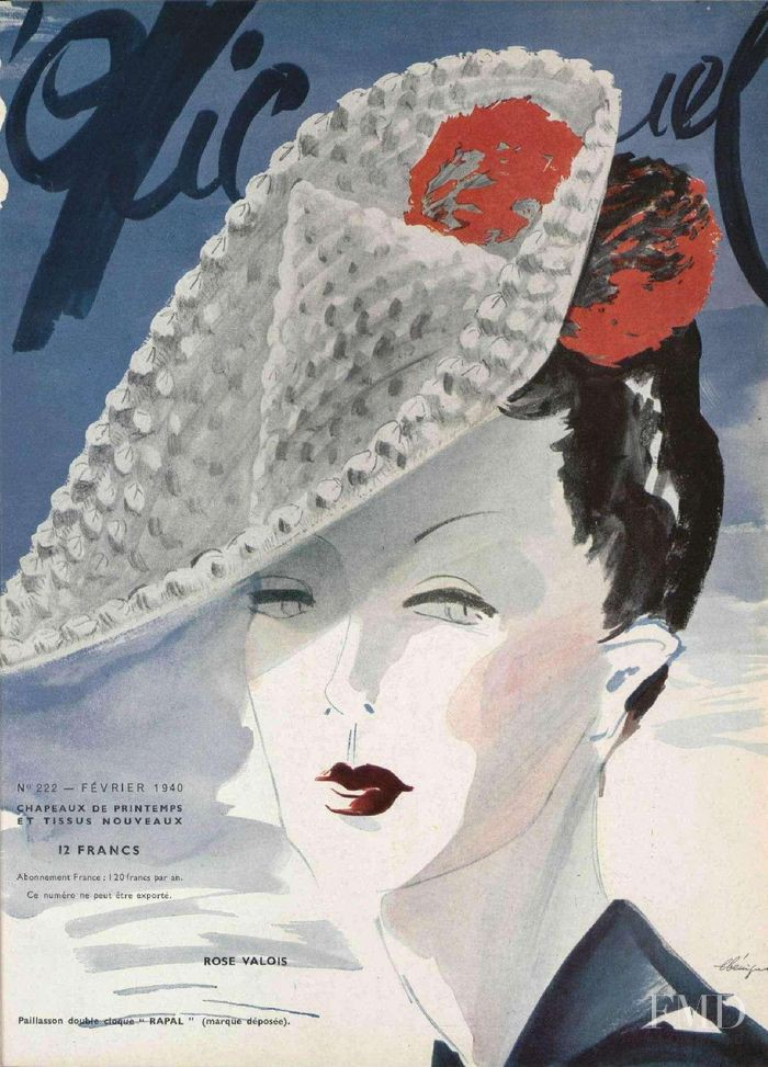 featured on the L\'Officiel France cover from February 1940