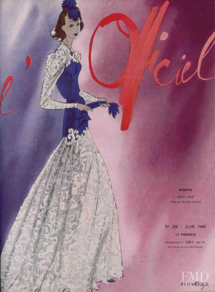 featured on the L\'Officiel France cover from June 1940