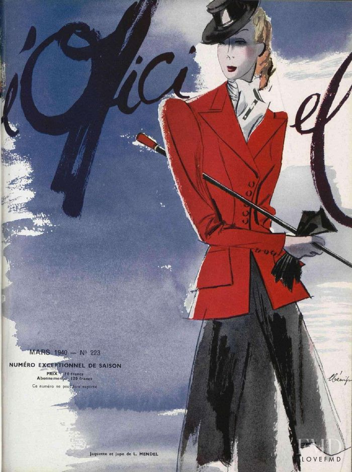 featured on the L\'Officiel France cover from March 1940