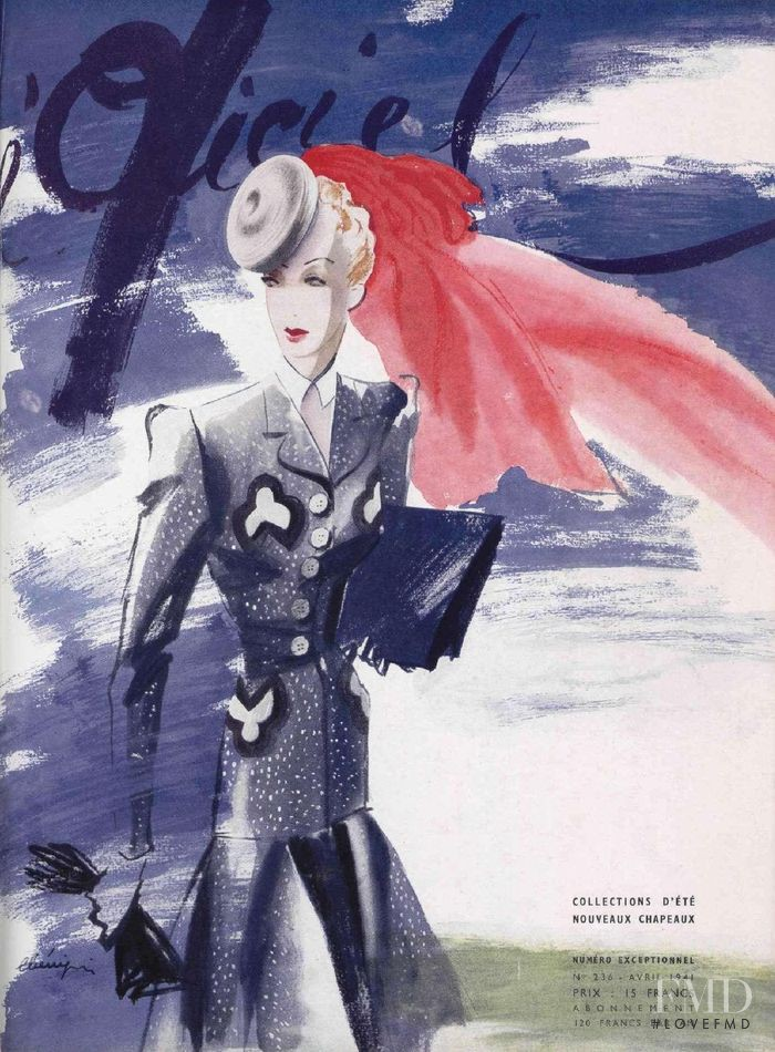 featured on the L\'Officiel France cover from April 1941