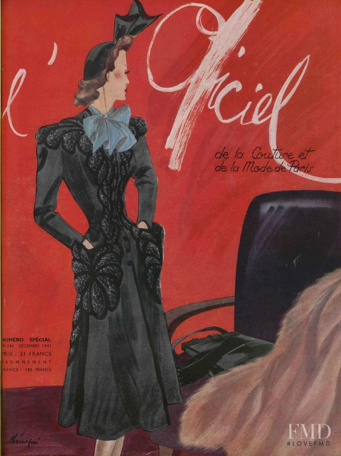featured on the L\'Officiel France cover from December 1941