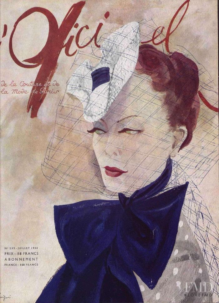 featured on the L\'Officiel France cover from July 1941