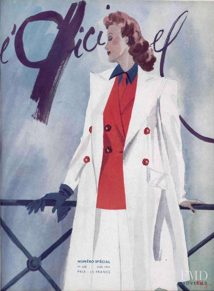 featured on the L\'Officiel France cover from June 1941