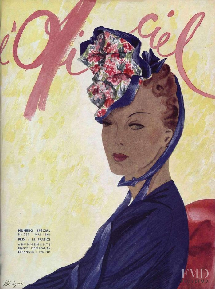 featured on the L\'Officiel France cover from May 1941