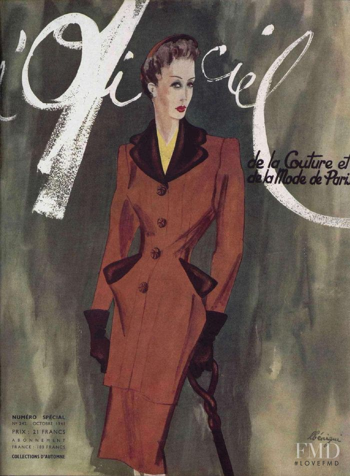 featured on the L\'Officiel France cover from October 1941