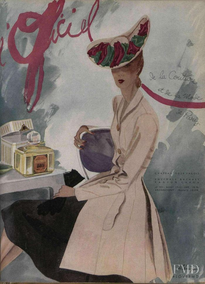 featured on the L\'Officiel France cover from August 1942