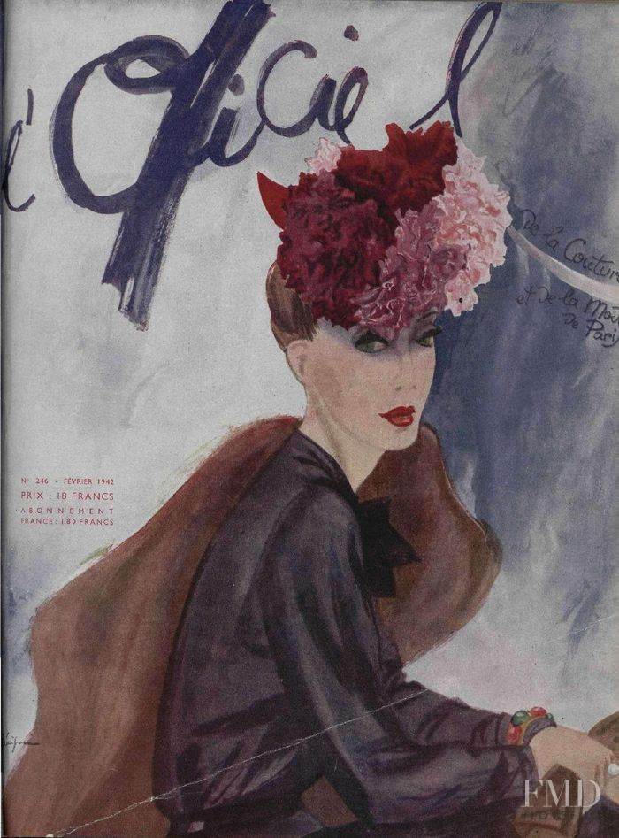 featured on the L\'Officiel France cover from February 1942