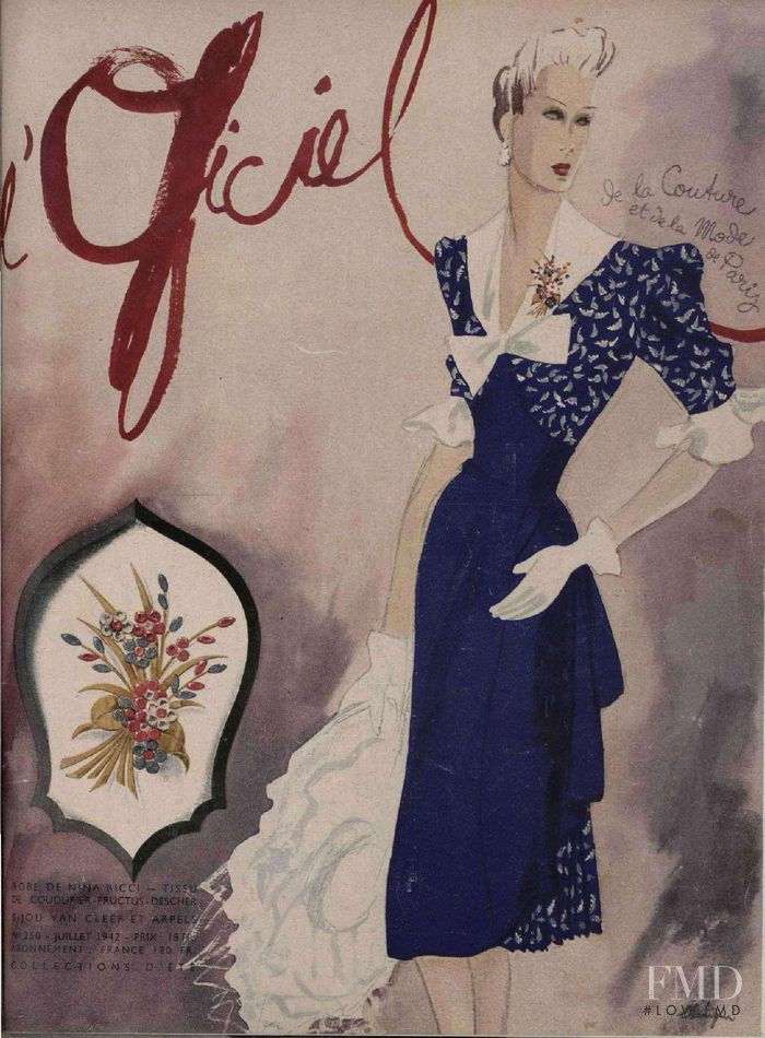 featured on the L\'Officiel France cover from July 1942