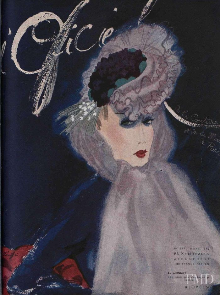 featured on the L\'Officiel France cover from March 1942