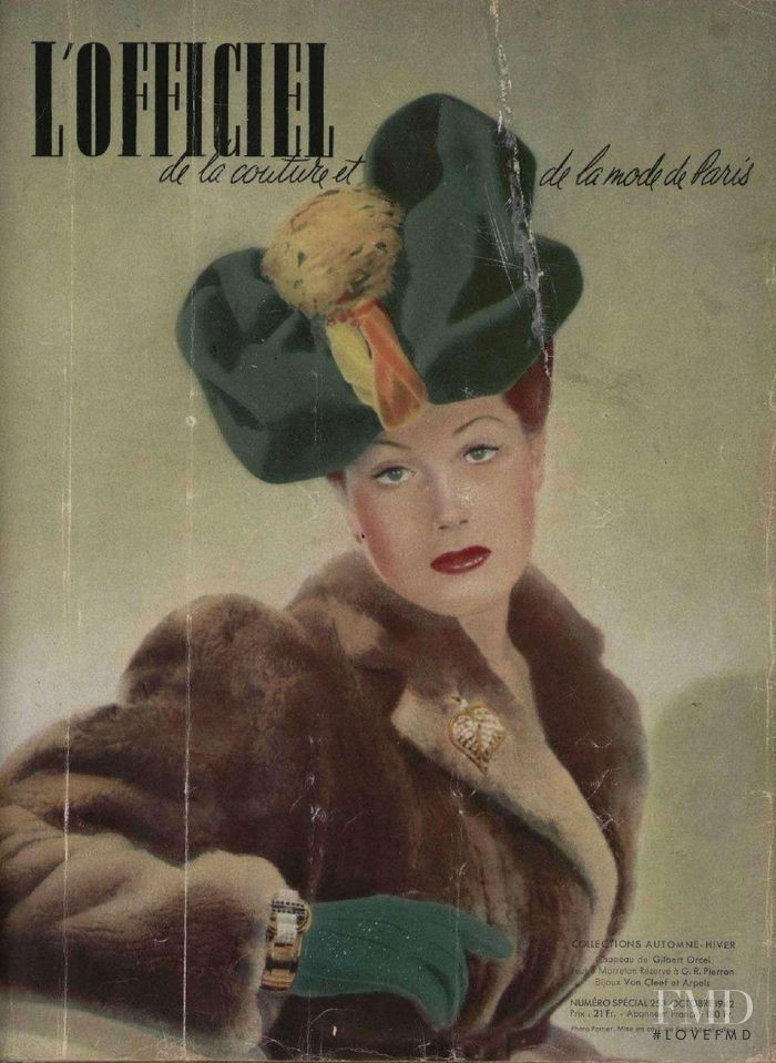 featured on the L\'Officiel France cover from October 1942