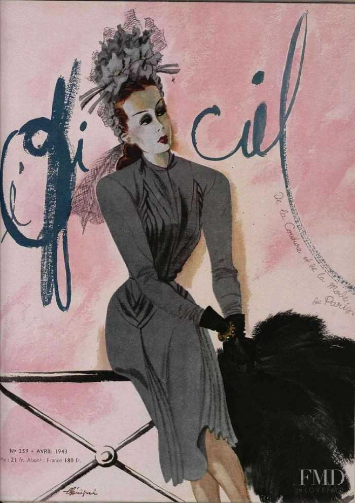 featured on the L\'Officiel France cover from April 1943