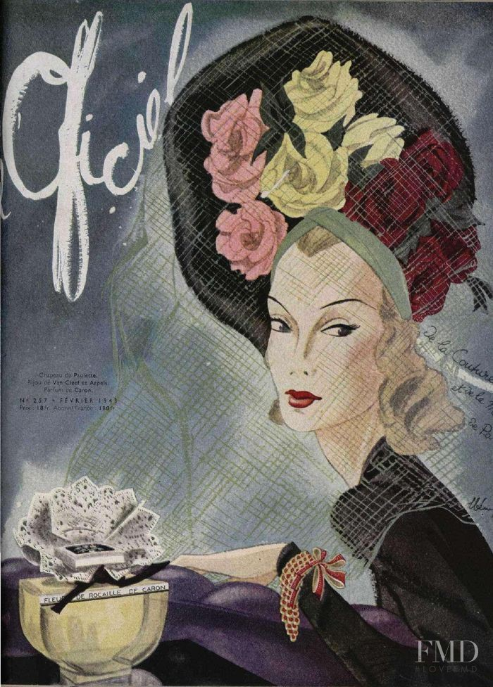 featured on the L\'Officiel France cover from February 1943