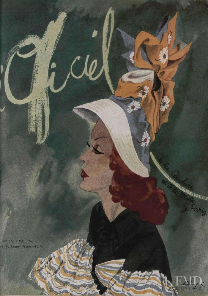 featured on the L\'Officiel France cover from May 1943