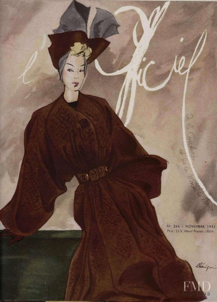 featured on the L\'Officiel France cover from November 1943