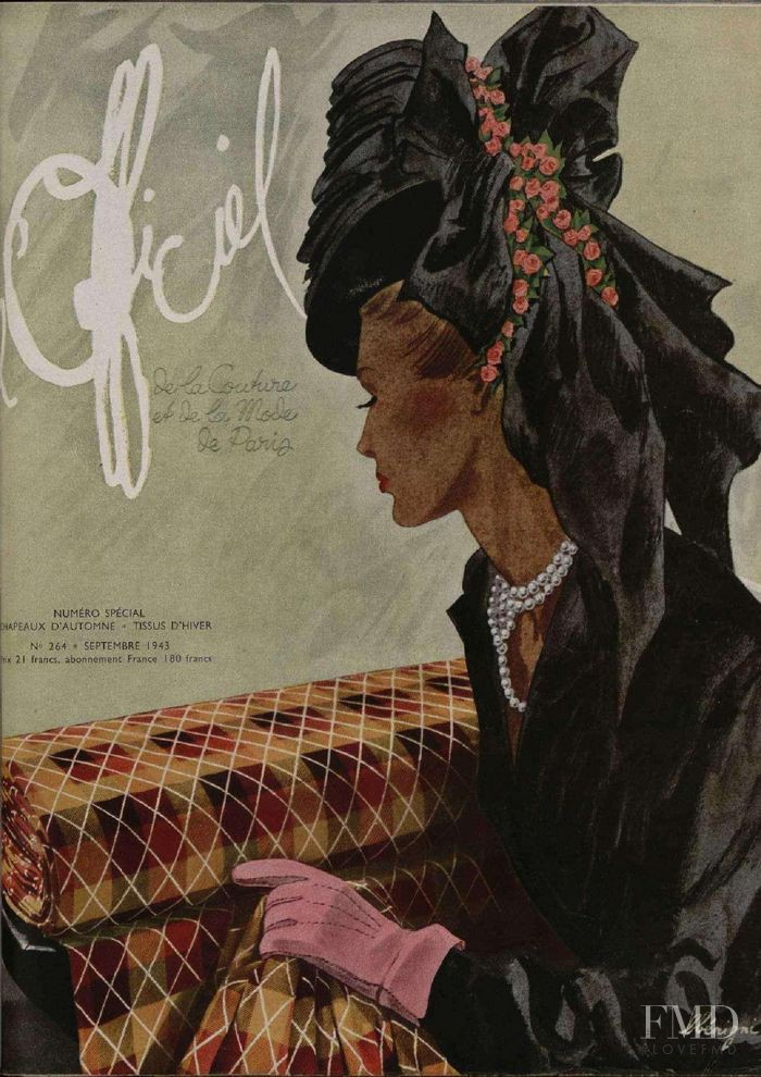 featured on the L\'Officiel France cover from September 1943